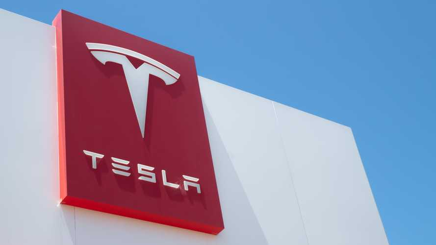 Tesla logo sign