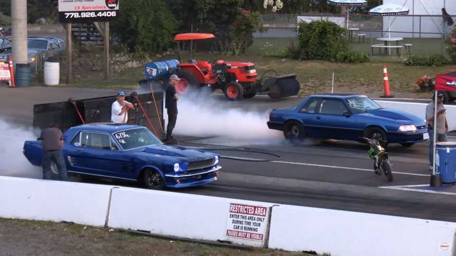 Father Son Mustang Drag Race