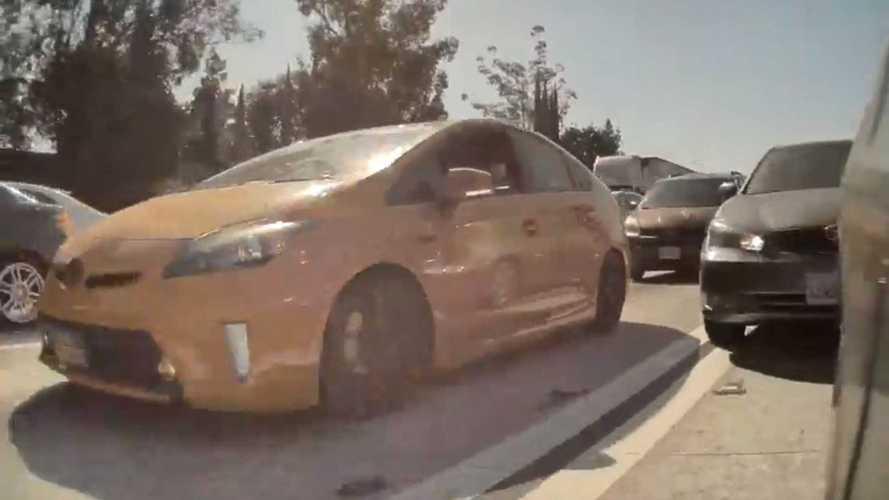Toyota Smashes Rear Of Tesla Model 3