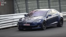 Tesla Model S Plaid en action au Nurburgring