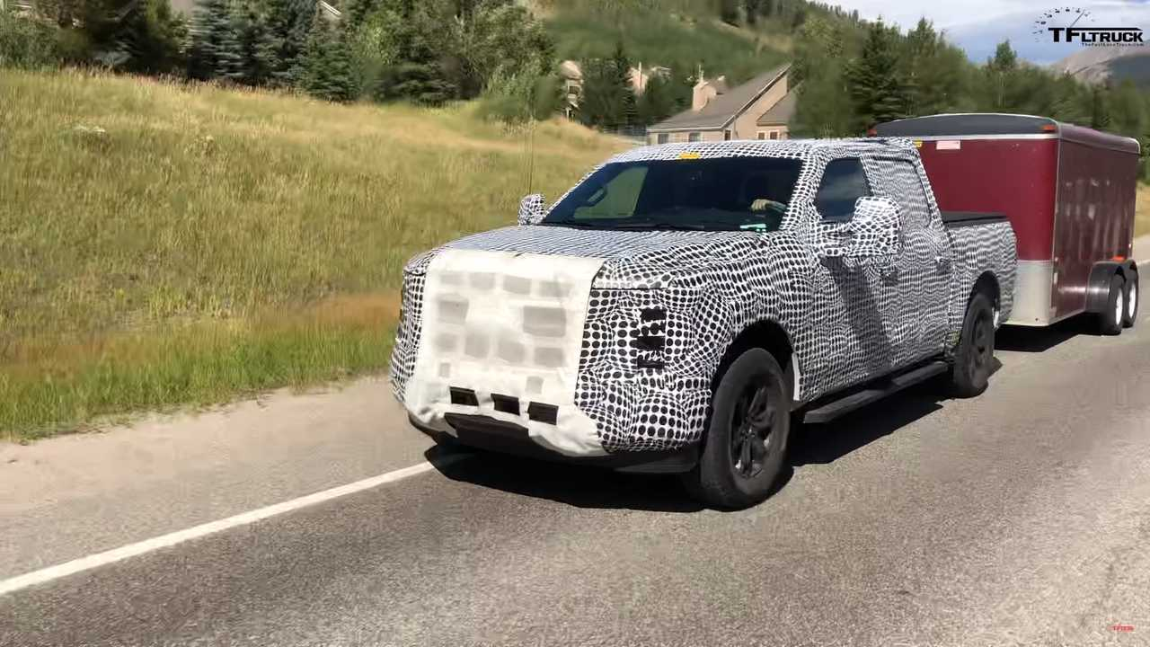 2021 Ford F-150 Spied Towing A Trailer Over The Rocky Mountains