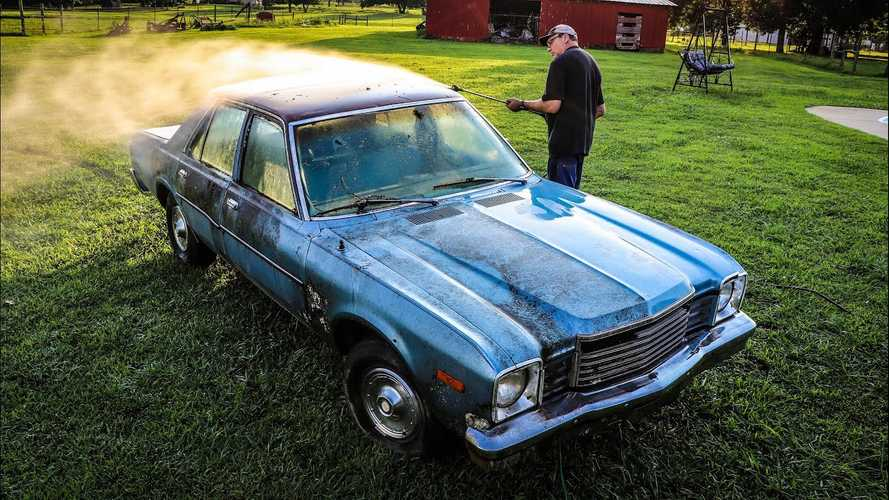 Abandoned Dodge Aspen Gets New Life With Some Power Washing Love