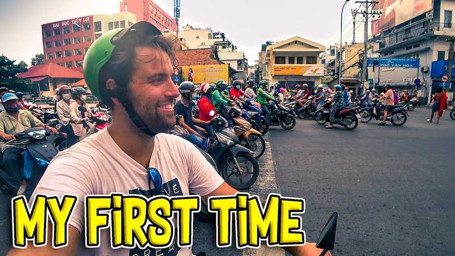 Newbie Takes First Ride In Vietnam