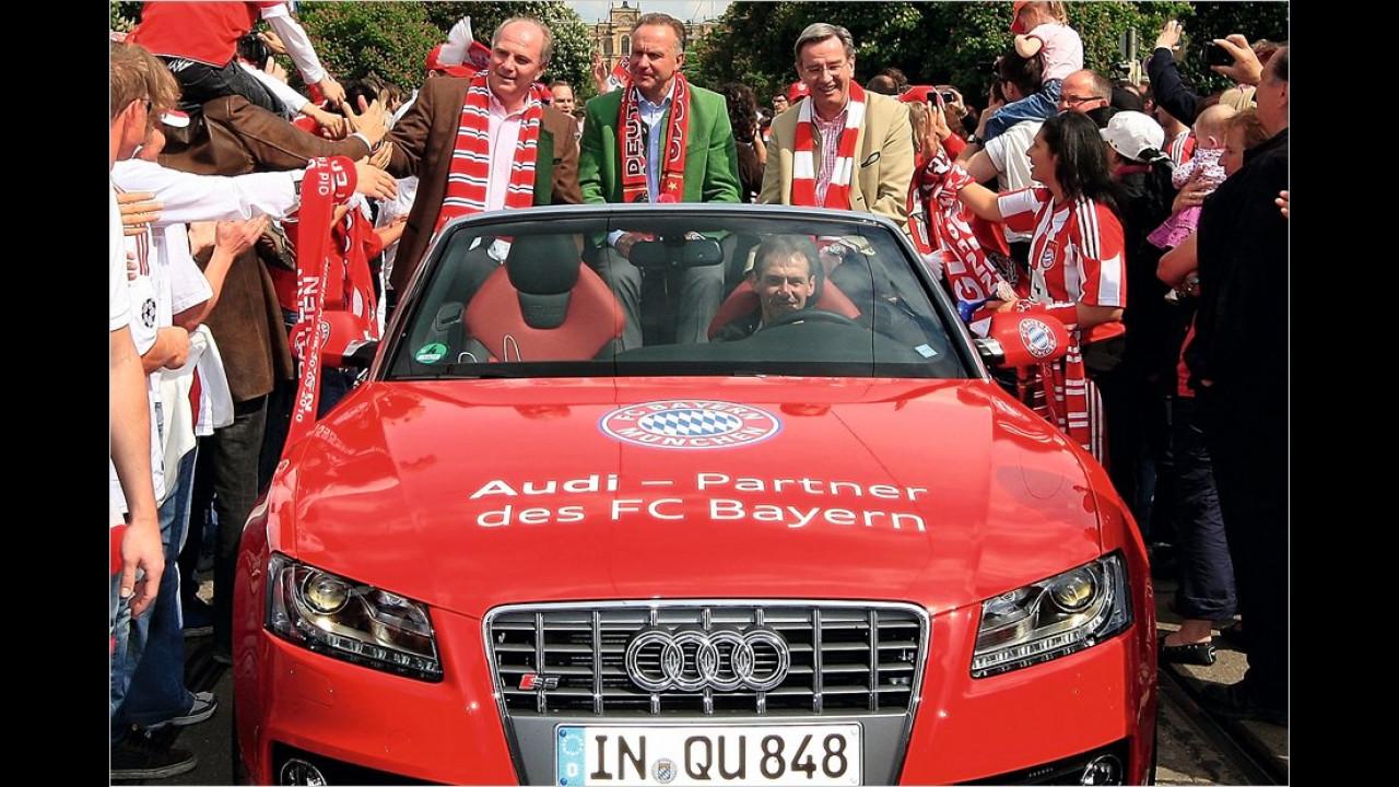 Uli Hoeneß, Karl-Heinz Rummenigge und Karl Hopfner