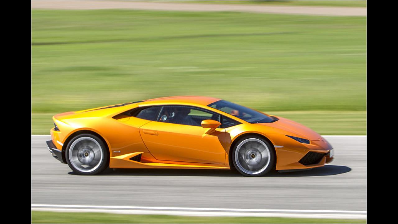 Platz 10: Lamborghini Huracán, 1.165 Millimeter Höhe