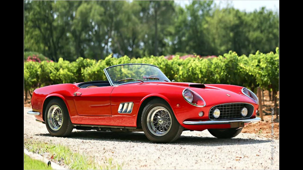 Platz 3: Ferrari 250 GT California Spider (SWB), Baujahr 1961