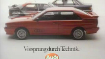 40 years Vorsprung Durch Technik - Audi