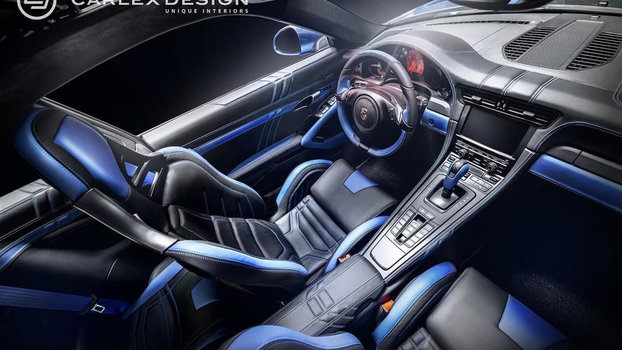 Porsche 911 gets blue electric theme from Carlex Design