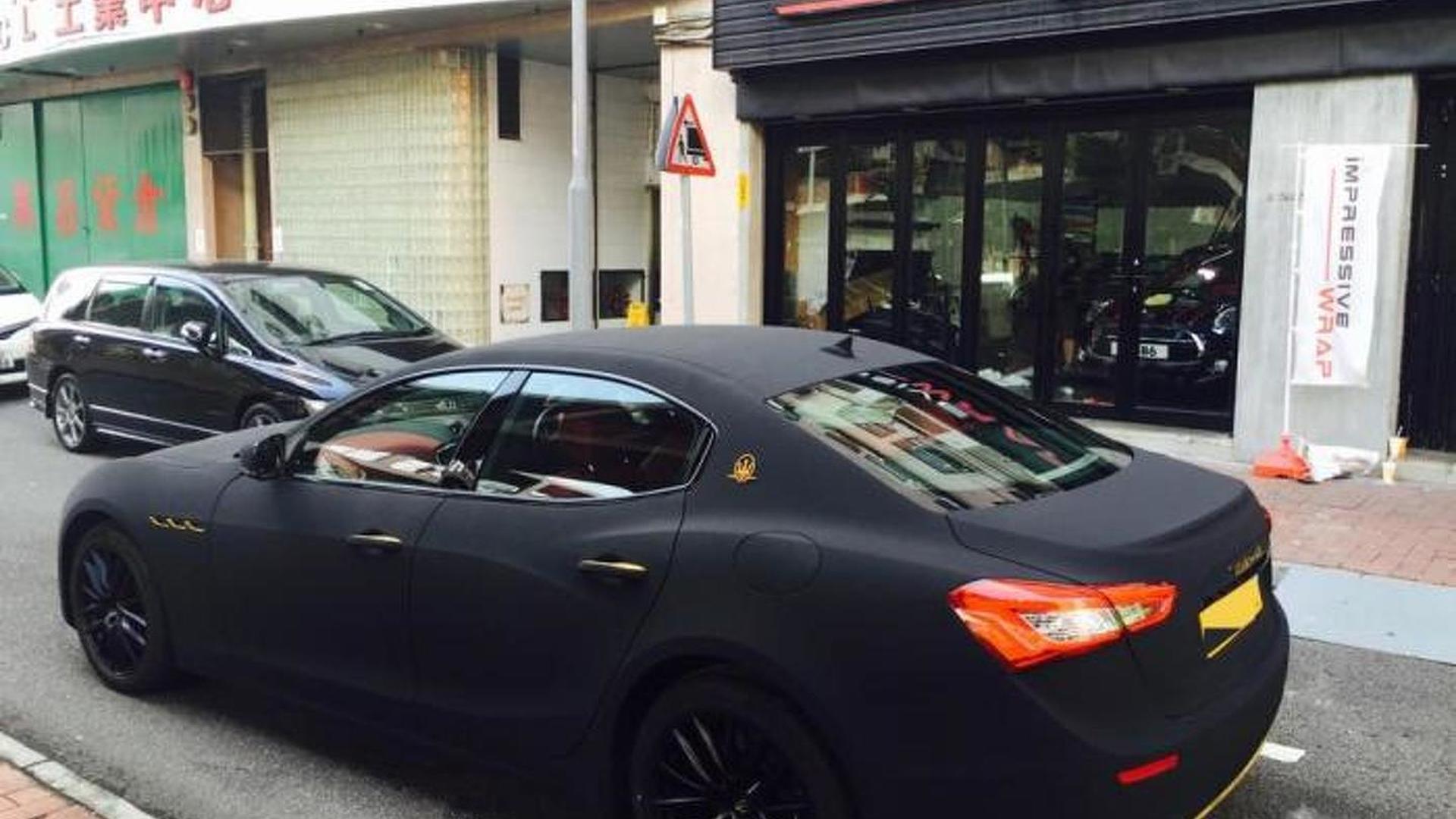 Maserati Ghibli With Matte Black Suede Wrap Looks Striking