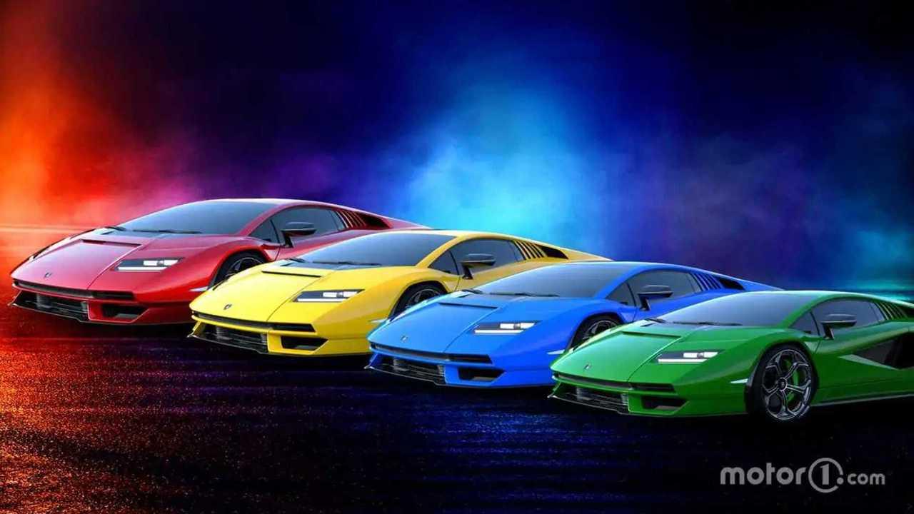 Lamborghini Countach 2021 colores