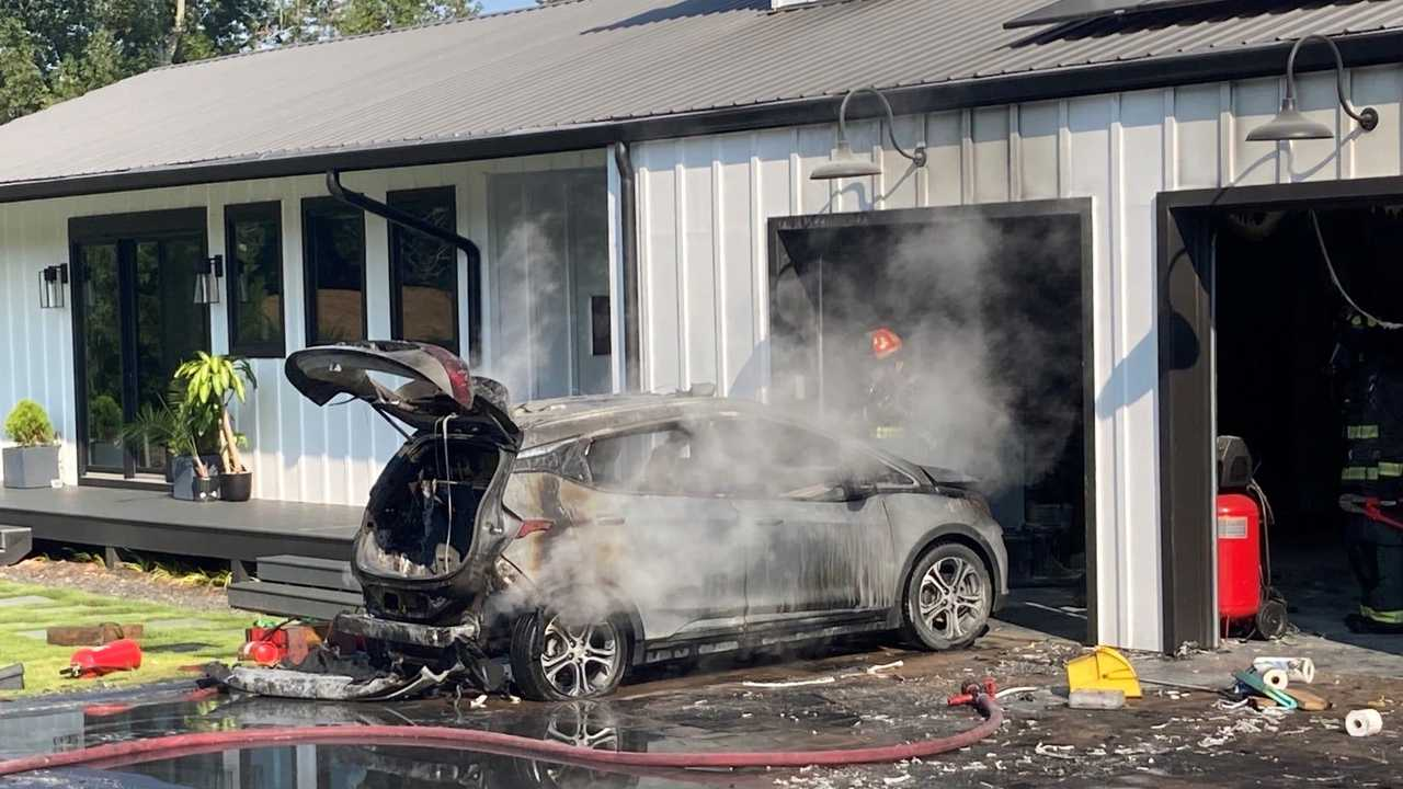 Bolt EV fire Cherokee County GA
