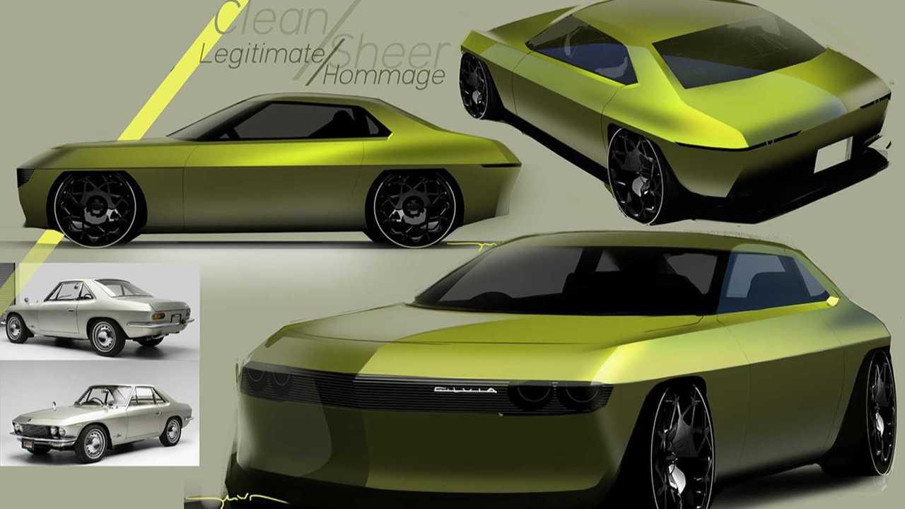 Рендер электрического Nissan Silvia