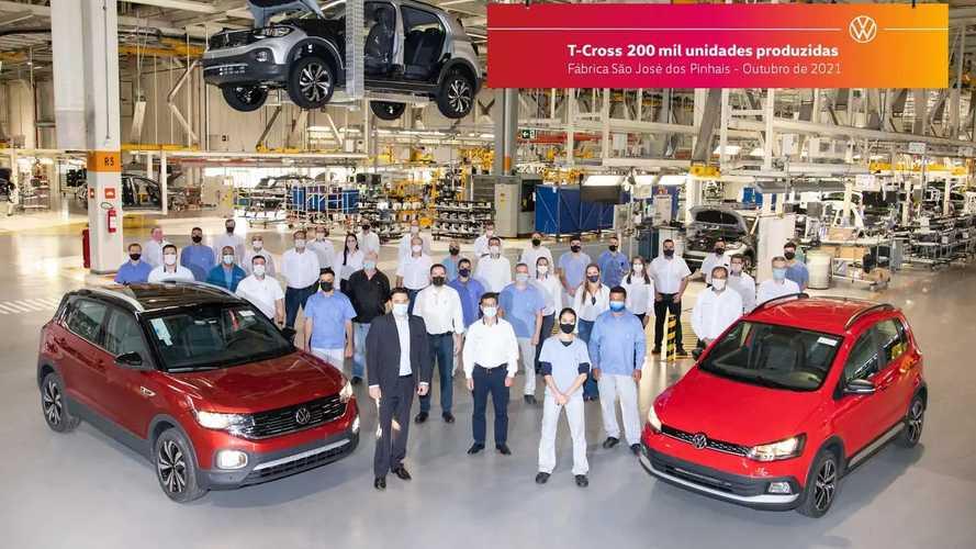 Volkswagen T-Cross alcança 200 mil unidades produzidas no Brasil