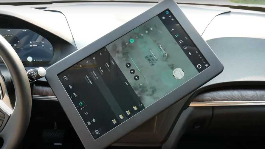 Mitsubishi Electric Testing Rotating Infotainment System In Acura MDX