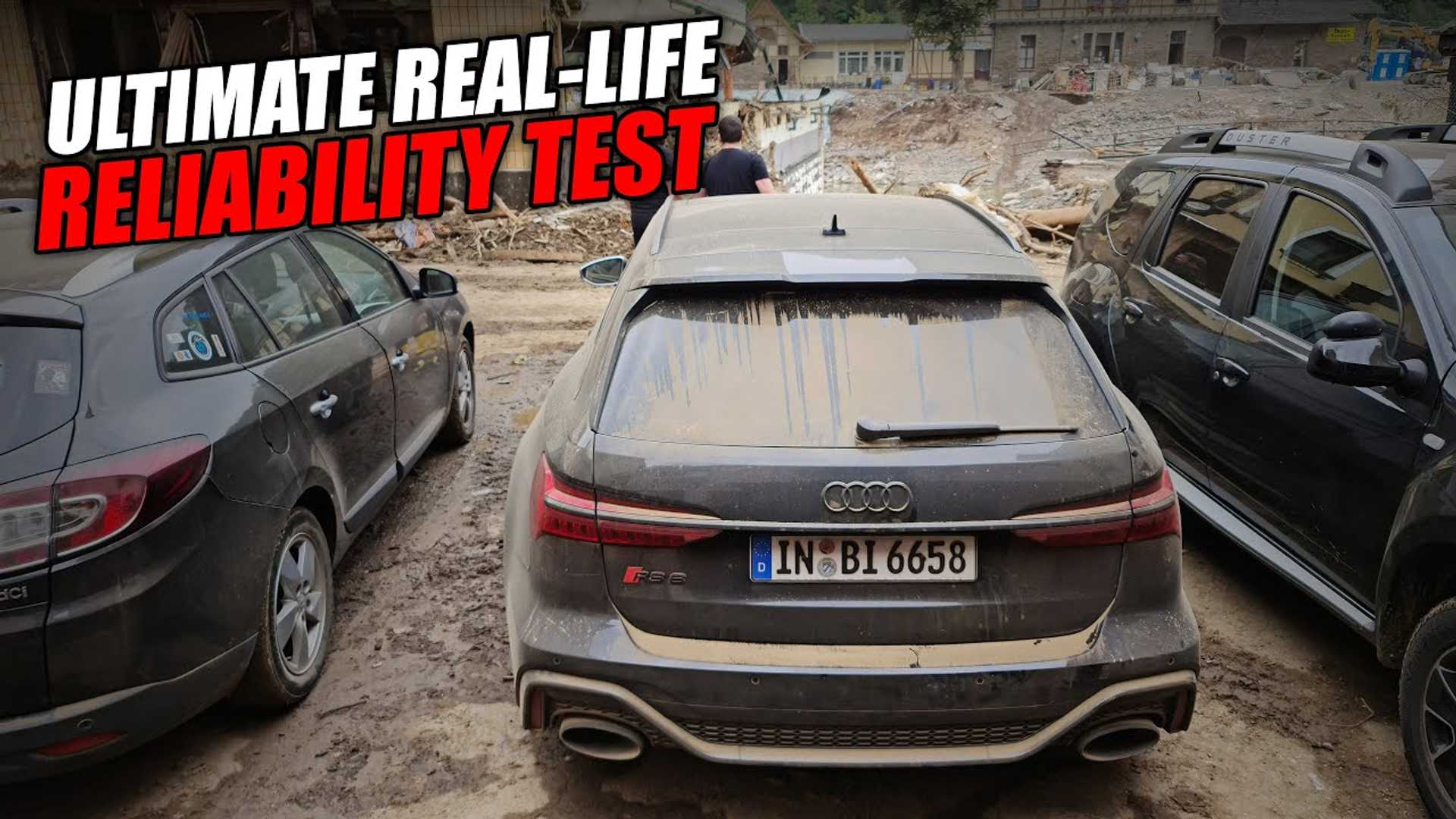Audi Unhappy With YouTuber Using RS6 Press Car To Transport Workers To Flooded German Regions