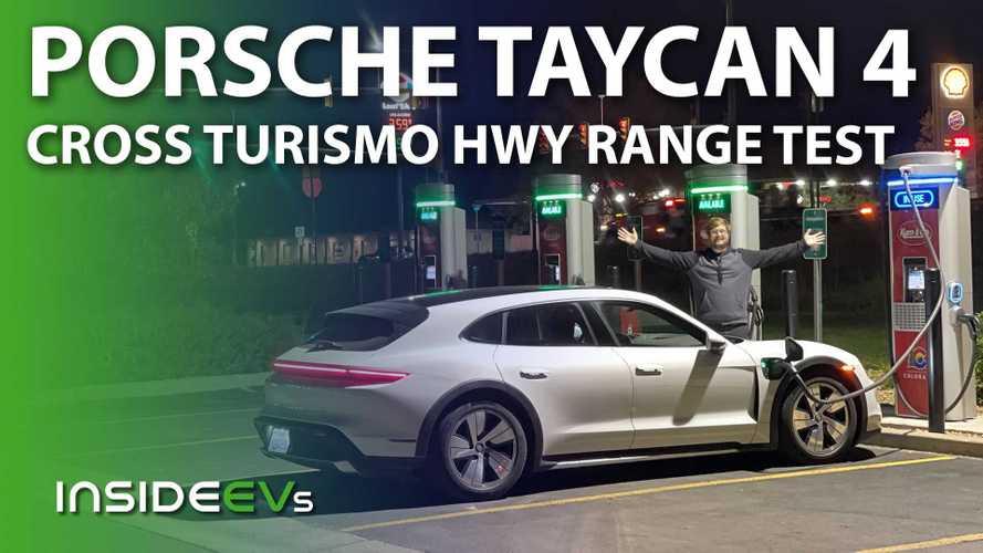 Porsche Taycan 4 Cross Turismo 70-MPH Highway Range Test