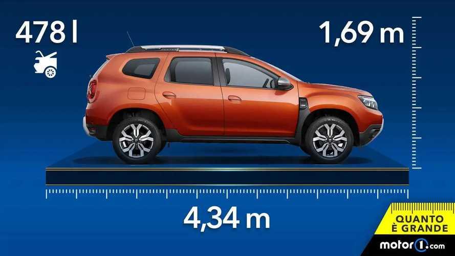 Dacia Duster, dimensioni e capacità bagagliaio del SUV low cost