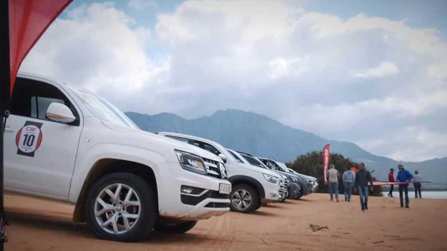 Watch 10 Pickup Trucks Drag Race In The Sand