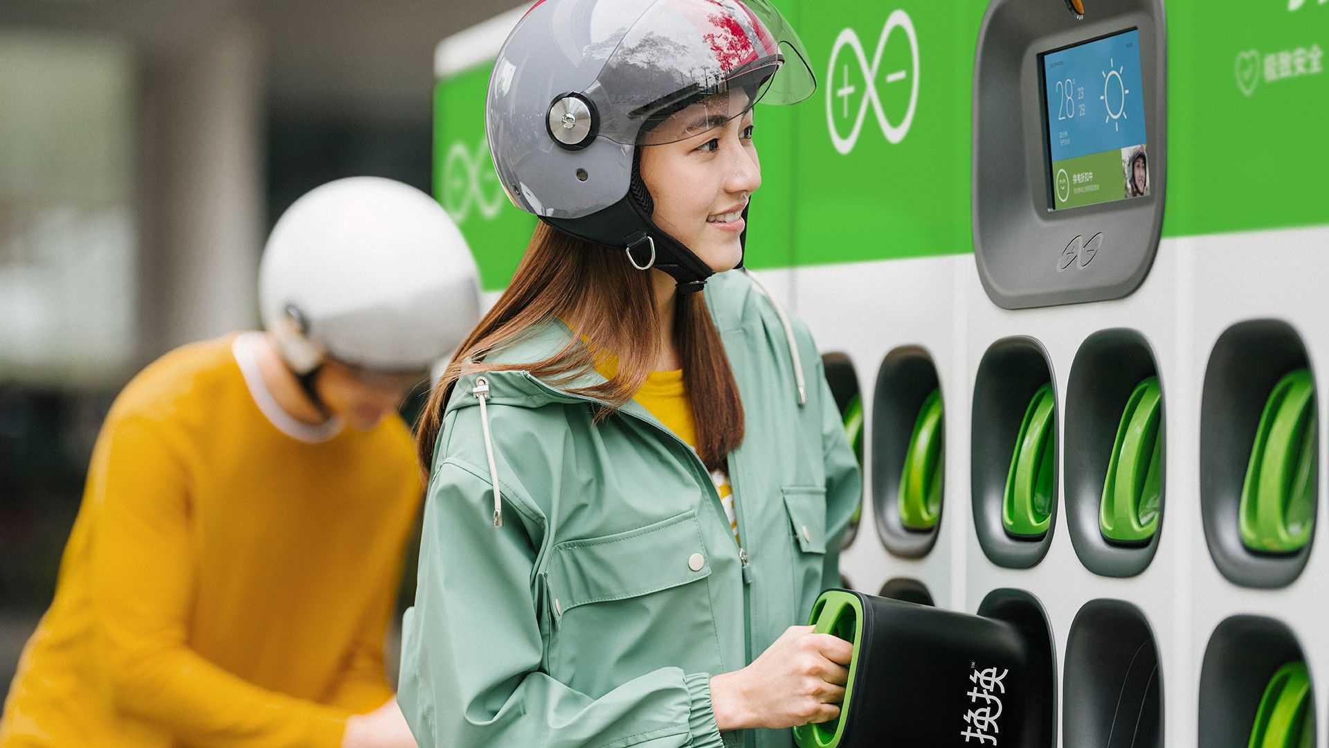 Gogoro Go Station - Battery Into Charging Station Alternate