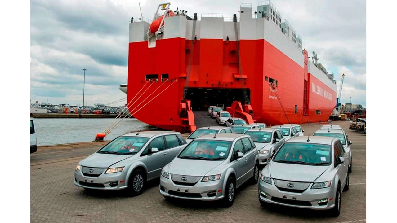 BYD e6 Electric Vehicles Arrive In Right-Hand-Drive in UK