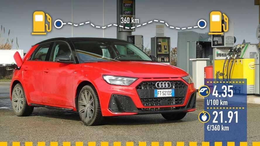 Audi A1 Sportback 30 TFSI, la prova dei consumi reali