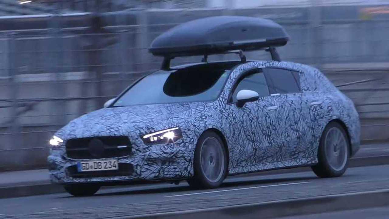 2020 Mercedes CLA Shooting Brake screenshot from spy video
