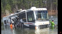 RV Backed Into Lake By Dog