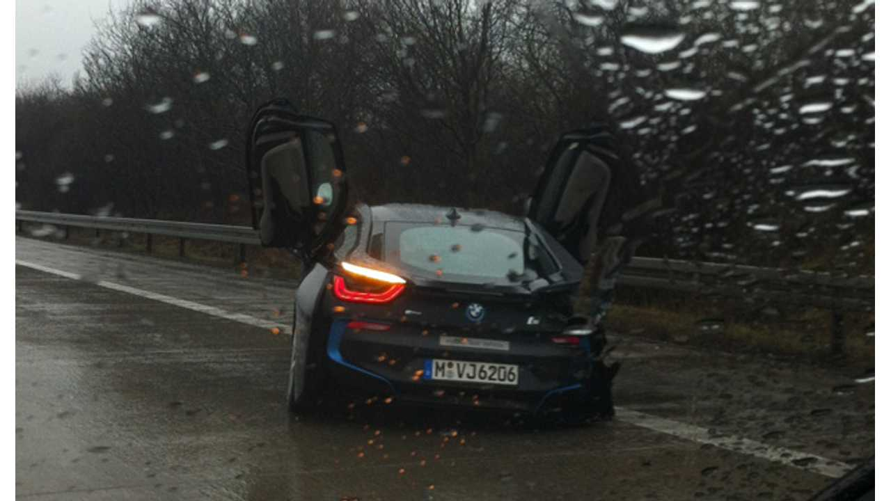 BMW i8 Gets Wrecked by Test Driver in Germany