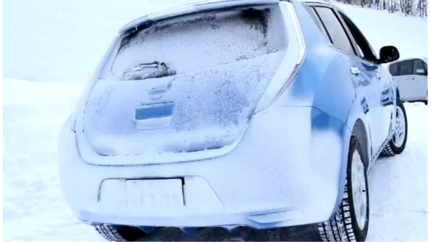 Winter Tip From Nissan:  EVs Are Good In The Snow (Video)