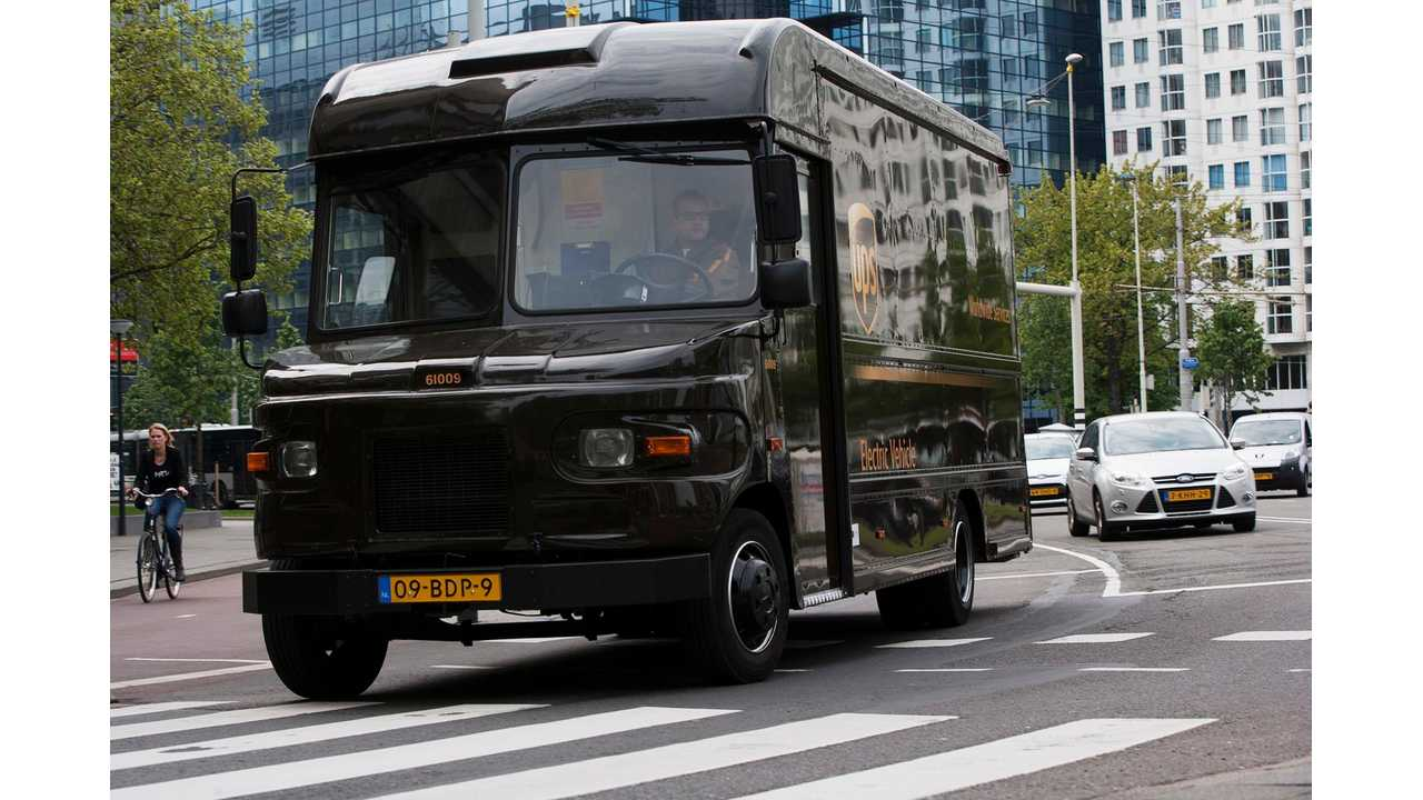 UPS Electric Vehicle in Rotterdam