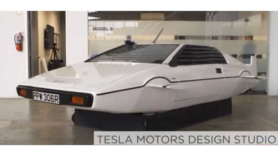 James Bond Lotus Esprit Submarine On Display At Tesla Motors Design Studio