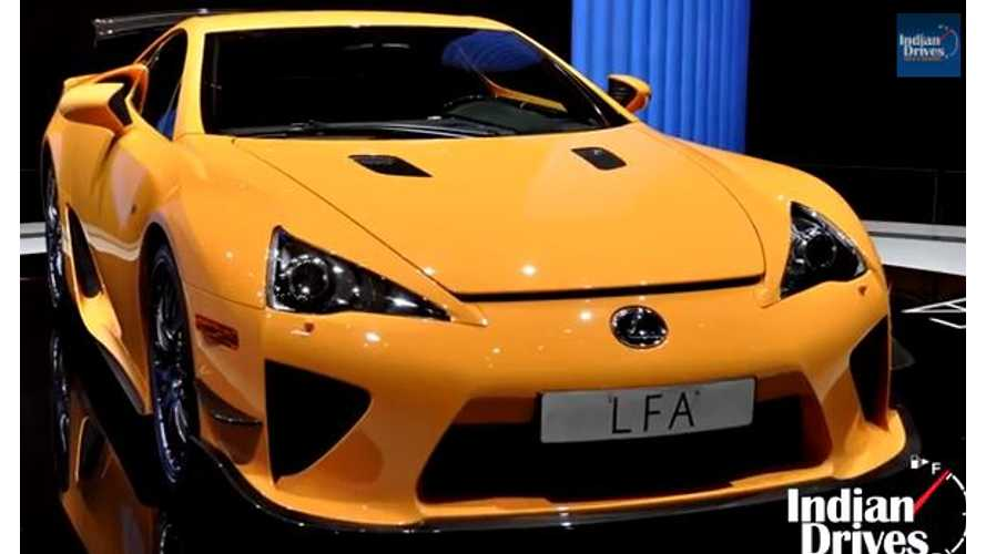 New Lexus LFA Supercar To Borrow BMW i8 Tech - Video