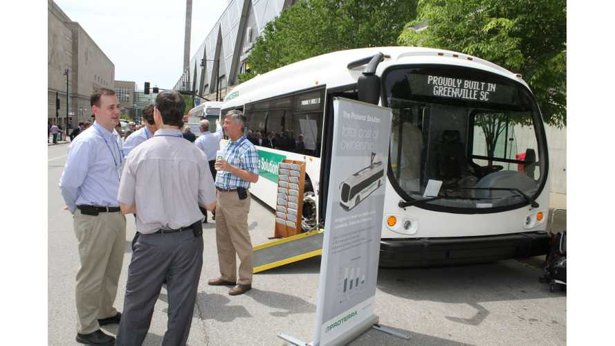 Proterra Launches 2nd Generation Electric Bus