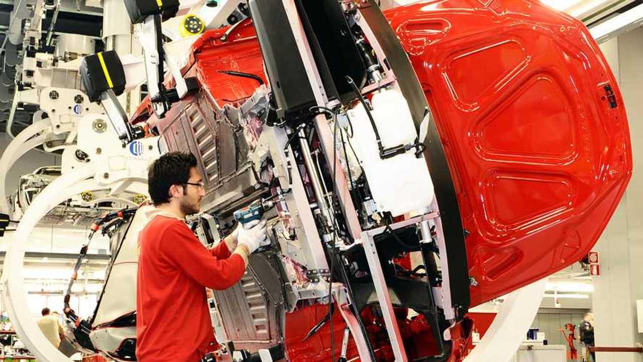 Ferrari, la linea di montaggio