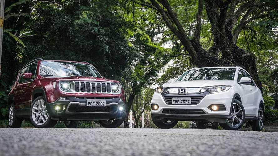 Jeep ultrapassa Honda, VW ameça Chevrolet e Chery Caoa já encosta na Mitsubishi