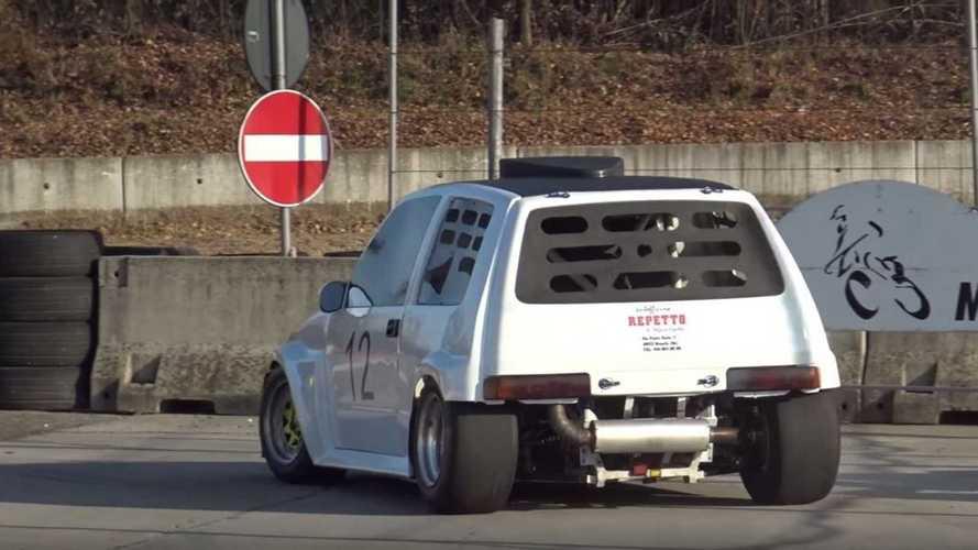Fiat Cinquecento, come urla col motore Suzuki Hayabusa