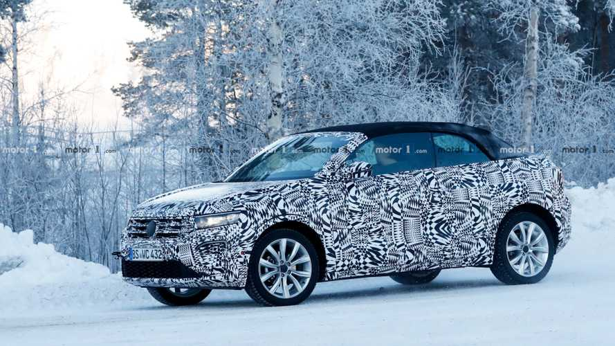 VW T-Roc Convertible spied looking very cold in Sweden