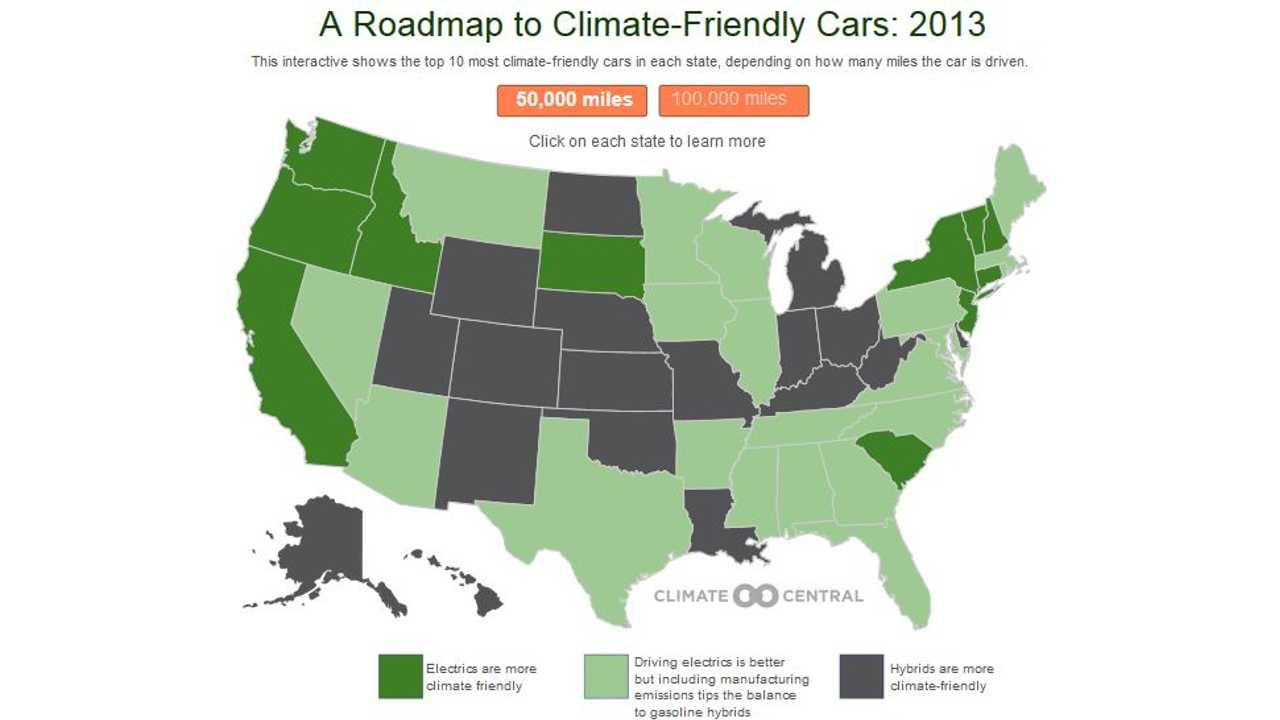 Climate Central Issues Roadmap to Most Climate Friendly Vehicles in All 50 US States