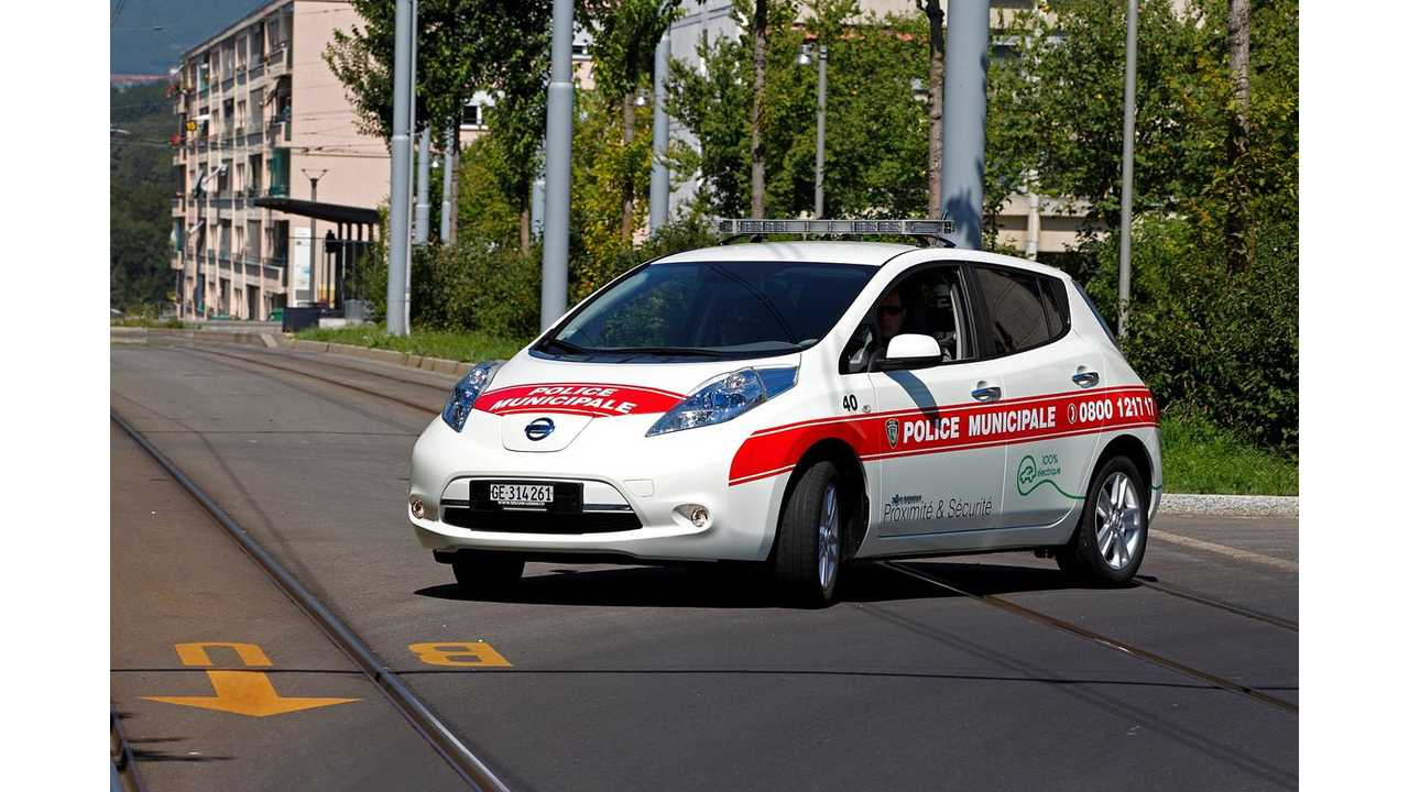 Nissan LEAF Adopted By Law Enforcement In Switzerland