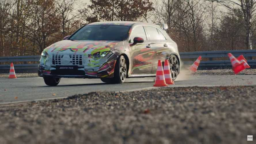 Mercedes-AMG A45 Wishes Us Merry Driftmas In Teaser Video