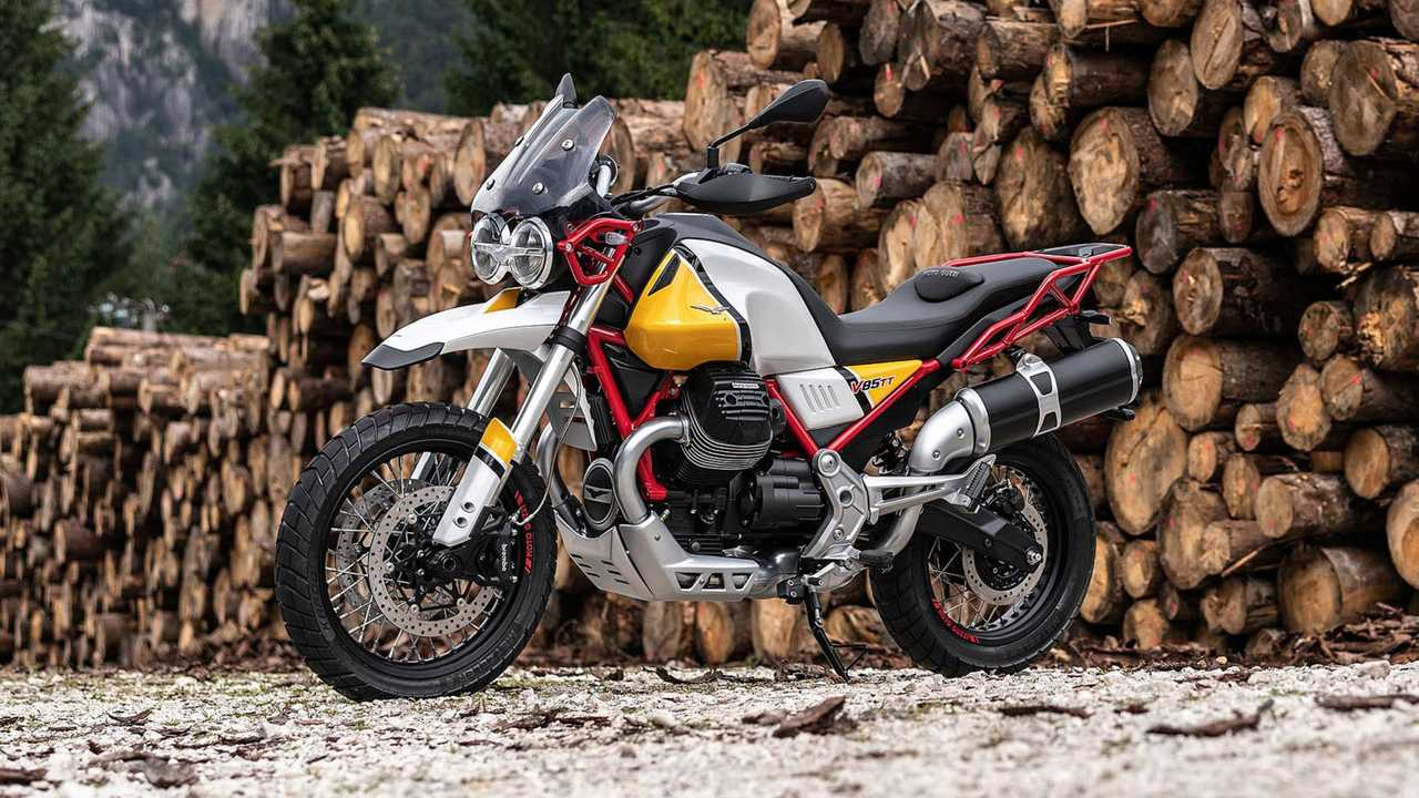 Possible road-oriented Moto Guzzi V85 TT in the works