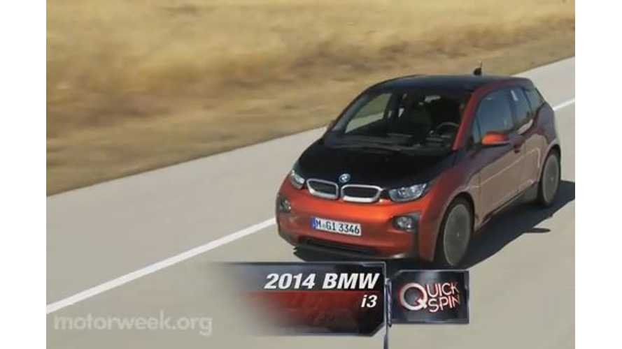 Video: MotorWeek BMW i3 Quick Spin Review