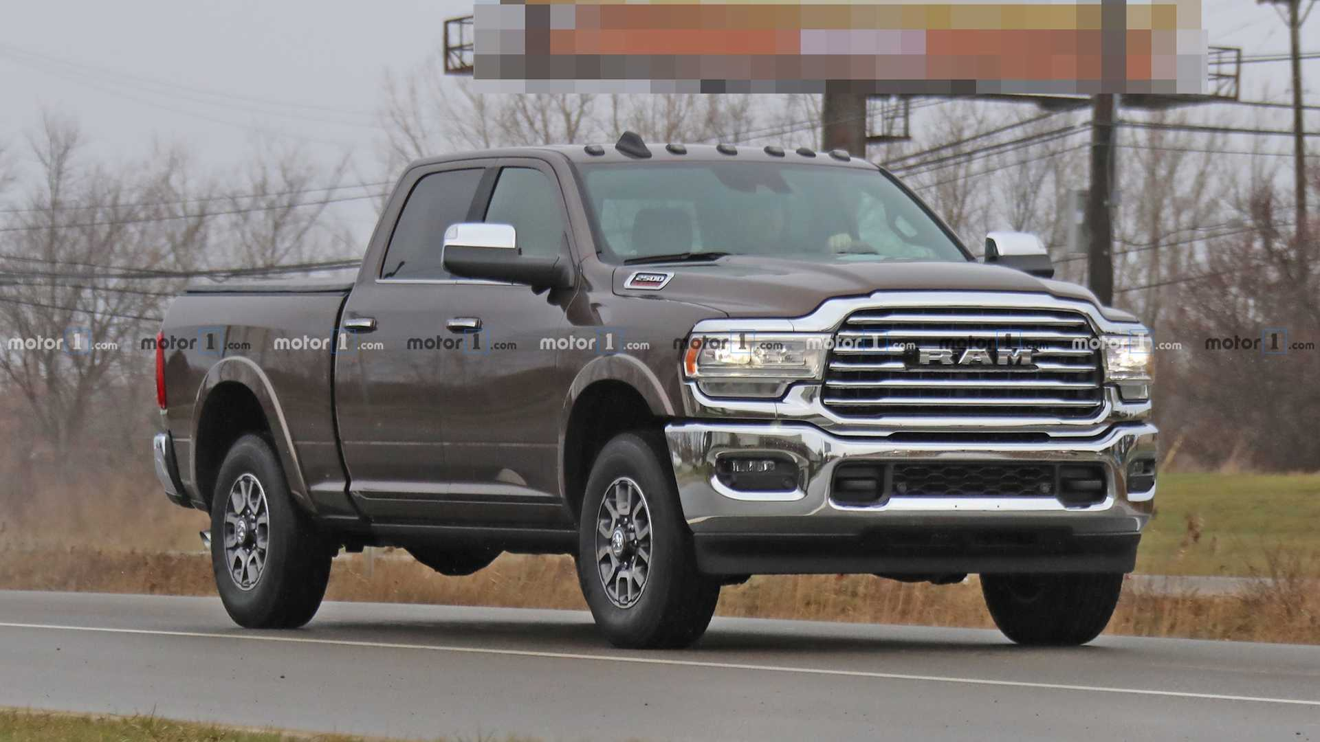 2020 Ram Hd Interior Fully Revealed In Latest Spy Shots