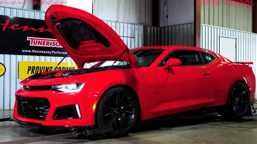 Hennessey Exorcist Camaro ZL1 On Pump Gas Hits The Dyno