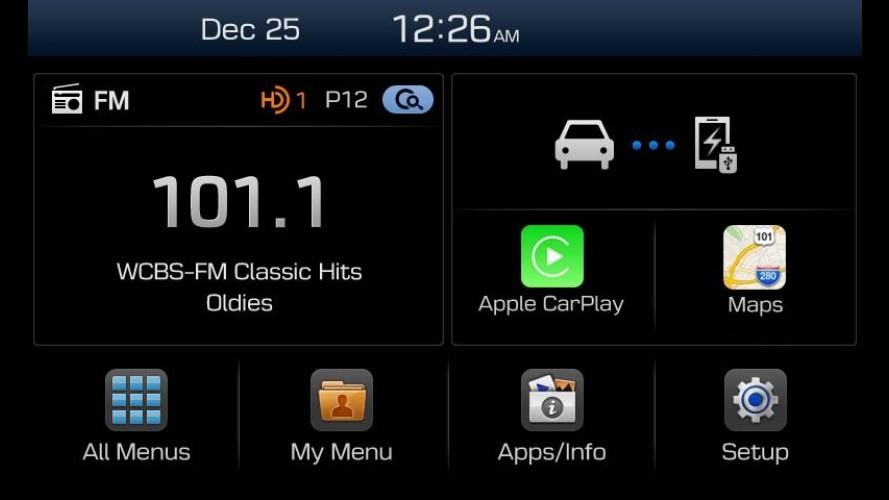 Hyundai revela central multimídia compatível com Apple Car Play e Android