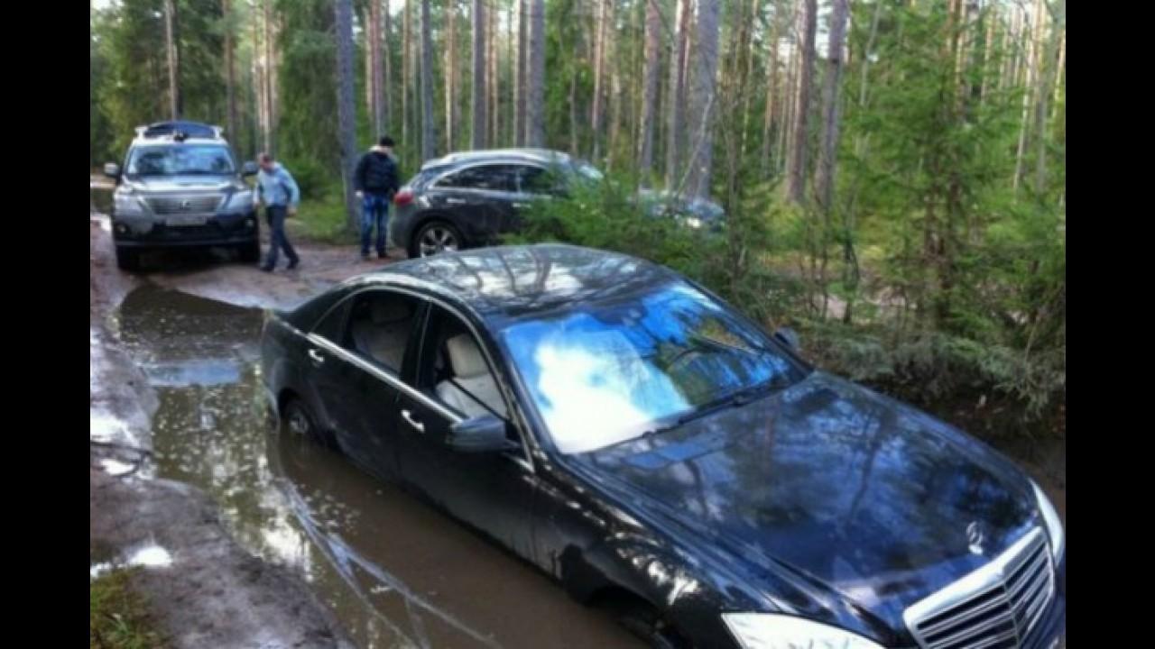 Mercedes Classe S off-road?