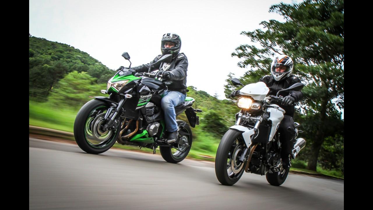 Avaliação: Kawasaki Z800 e BMW F800R - esportividade em quatro ou dois cilindros?