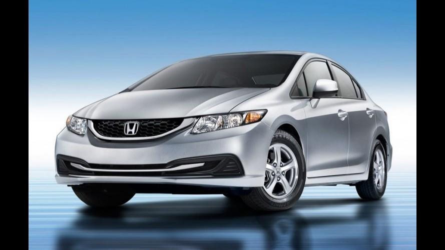 Reestilizado, Honda Civic 2014 movido a GNV chega aos EUA em fevereiro