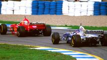 Jacques Villeneuve, Williams FW19 y Michael Schumacher, Ferrari F310B