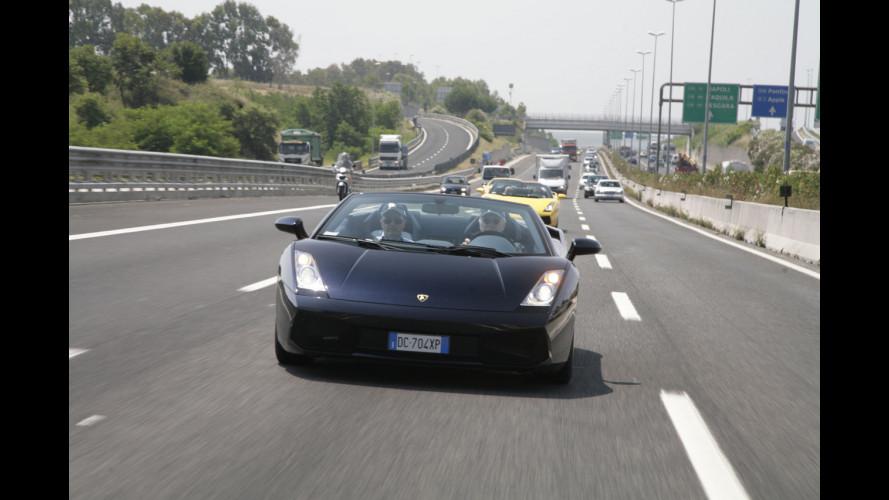 Il Lamborghini Roadshow fa tappa a Roma